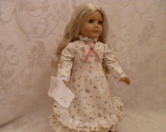 18 Inch Doll 1880's Replica Dress of Laura Ingalls for American Girl Dolls
