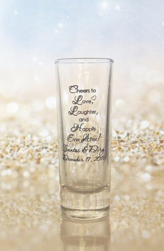 Wedding Favor Boxes For Shot Glasses : ... Wedding Favor 2oz Tall Glass Shot Glasses Custom Wedding Gift Ideas