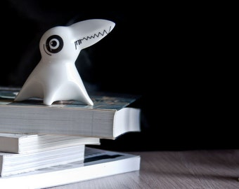 Ceramic Monster, Porcelain Figurine, Ceramic Figurine, Modern Kawaii Figurine, Designers Toy