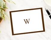 Masculine Monogram Note Cards