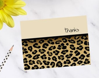 Leopard Print Note Cards