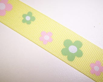 Pale Yellow Flower Ribbon 4 Yards