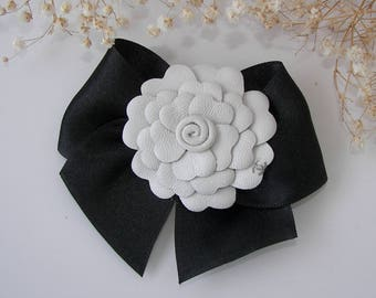 Chanel Camellia Leather Chanel  Pin Brooch Handmade Camellia Chanel Inspired  Brooch Elegant Pin Chanel inspired jewelry