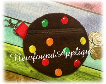 In The Hoop Cookie With Candy Zipped Case Embroidery Machine Design for 5x7 hoop