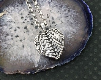 Cremation Urn Pendant - Heart Necklace, Urn Necklace, Cremation Jewelry, Sympathy Gift / free shipping