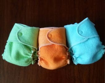 Pastel Wool Wrap Diaper Covers Small