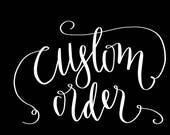 Custom Order for Ren
