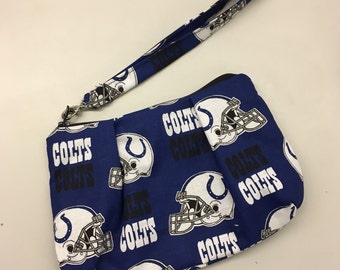 Indianapolis Colts Double Pleated Wristlet