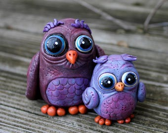 Owl Always Love You Polymer Clay Sculpture