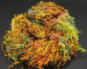 Handspun art yarn Teeswater  locks, 6.1 oz, 36 yards