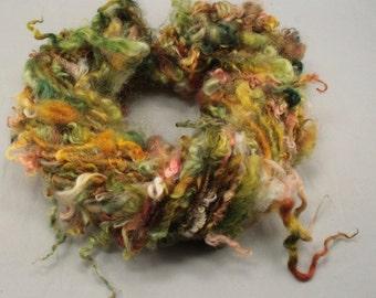 Handspun art yarn Teeswater and Masham locks, 5.2 oz, 32 yards