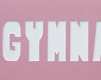 GYMNAST Custom Name Frame Photo Mat