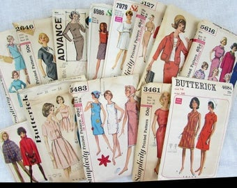 1960s Womans Sewing Patterns - Lot of 13 patterns 36-38 bust