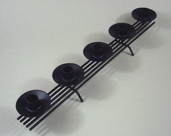Mid-century Modern Wrought Iron Candleholder Danish
