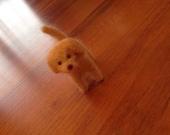 Felted dog, dog miniature, cake topper, natural wool toy, miniature, needle felted dog, white dog