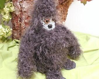 Dark Grey Bigfoot Toilet Roll Cozy, Sasquatch, Skunk Ape, Fun Bathroom Decor, Toilet Paper Cozy, Crocheted Cozy, Bath Tissue Cozy, Cryptid