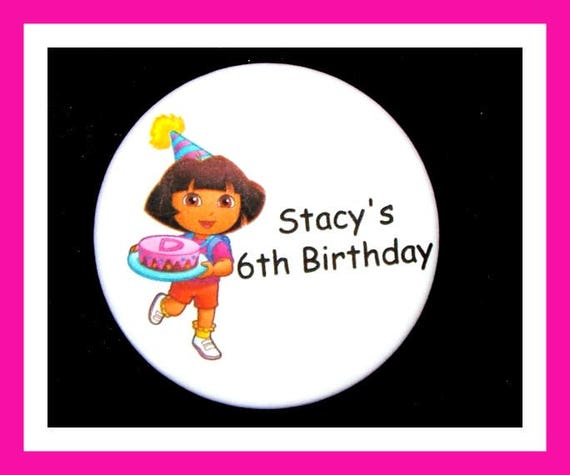 Birthday Party Favor Personalized Button,Cartoon Pin Favor,School Favor,Kid Party Favor,Boy Birthday,Girl BirthdayPin,Favor Tag Set of 10
