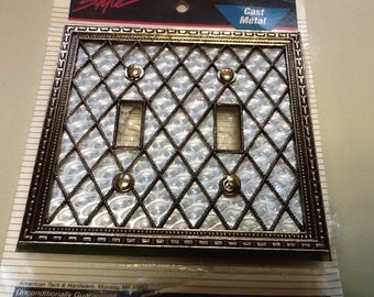 Lattice Metal Switch Plate Cover Lovely Home Decor 1970's