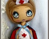 Miniature Blonde Nurse Art Doll