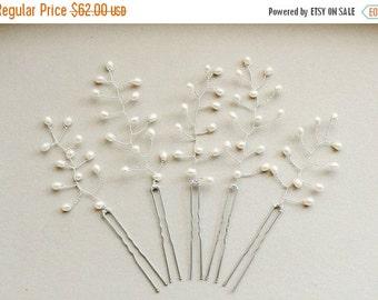 SALE Pearl Hair Pins - Pearl Hair Accessories - Bridal Party Hair - Bridesmaid Hair Pins - Pearl Headpiece - Wedding Hair Pin - Fresh Water