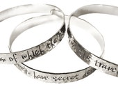 Sterling Personalized Bangle, silver message jewelry, wide bangle, wide message bangle bracelet, personalized bangle bracelet, custom bangle