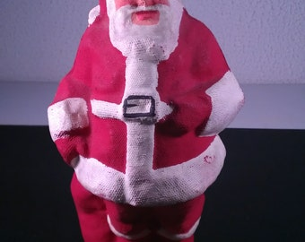 Vintage 1940's Hard To Find ATCO Co. Pulp Paper Mache Santa Claus Candy Container