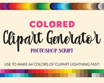 Colored Clipart Generator Photoshop Script
