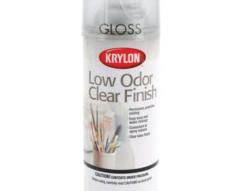 Gloss Spray Sealant - Low Odor Clear Finish Aerosol Spray - Permament Non-Yellowing - Latex - Moisture Resistant - 11 ounces - by Krylon