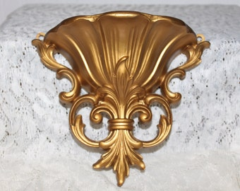 Vintage Gold Wall Pocket