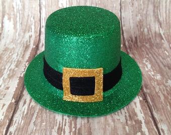 St Patrick's Day Mini Top Hat | Green and Gold Leprechaun Mini Top Hat |  READY to SHIP | Newborn-Adult