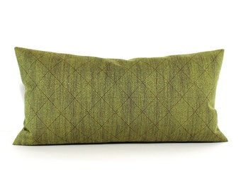 Lumbar Pillow Cover Green Pillow Cover Diamond Upholstery Fabric Oblong Decorative Pillow Throw Pillow Cover 12x24 12x21 12x18 12x16 10x20
