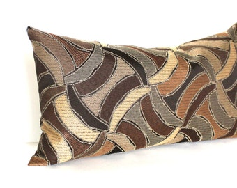 Lumbar Pillow Cover Brown Throw Pillow Cover Modern Abstract Decorative Pillow 20x20 18x18 16x16 12x24 12x21 12x18 12x16 10x20