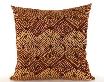 Rust Pillow Cover Southwest Upholstery Fabric Decorative Pillow Cushion Throw Pillow Cover Euro Sham 26x26 24x24 22x22