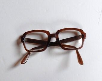 Vintage Romco Glasses - Vintage Frames - Brown Vintage Glasses - Brown Vintage Frames