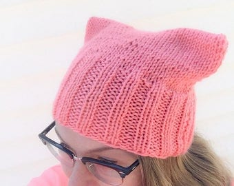 IN STOCK- CORAL Pussy Hat