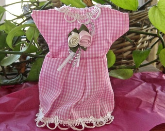 Gift Party Wedding Gingham Pink Dress Bag