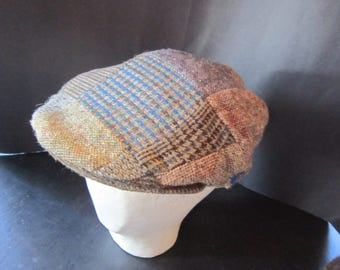 newsboy cap irish tweed wool patchwork hats ireland