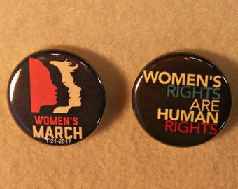 Woman's March Pin, Womans March Button Pin, Woman's March in Washington