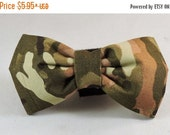 Sale 15% Off Dog Flower or Bow Tie - Camouflage