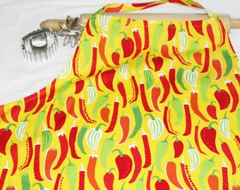 Plus Size Chili Peppers Apron