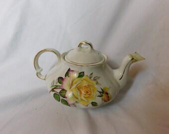 Vintage Wood & Sons Ellgreave Burslem England Floral Tea Pot   Box Y