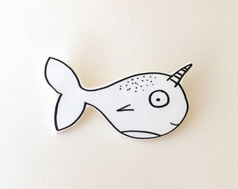 Narwhal Shrink Plastic Pin