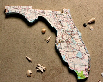 FLORIDA State Map Wall Decor | Vintage Maps | Perfect Gift for Any Occasion | Gallery Wall | Small size