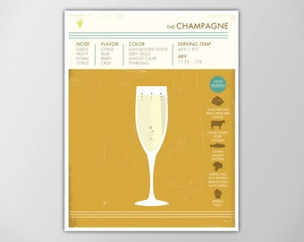 Champagne Art Print, Wine Art Print, White Wine Print, Wine Poster, Wine Print, Digital Wine Print, Champagne Poster, Wine Print, Champagne