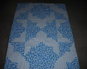Log Cabin Unfinished Quilt Top - Starlight Pattern