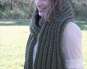 Knitting pattern - chunky knitted scarf instant PDF download