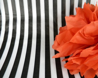 Black & White Stripe Tissue Paper | 24 Tissue Sheets | Trending Weddings Pattern Tissue Paper | Gift Wrap Store Packaging | Wrapping paper