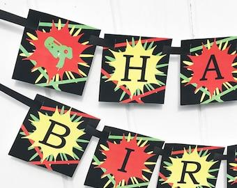 Laser Tag Banner Printable - Instant Download - Laser Tag Collection