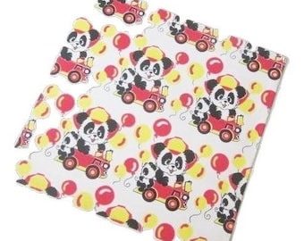 Vintage Wrapping Paper - Panda Celebration - All Occasion Gift Wrap - Full Sheet