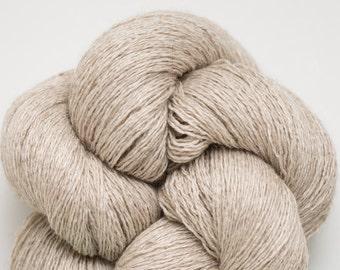 Fallow Field Silk Cashmere Lace Weight Recycled Ecru Yarn, SCH00108